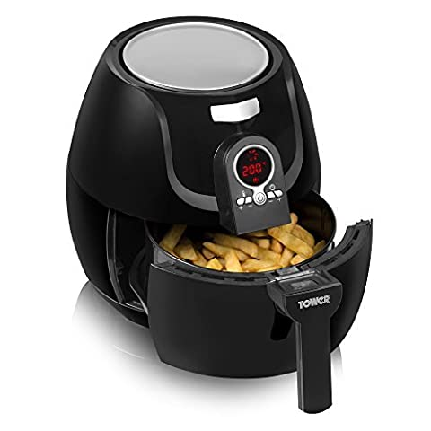 Tower T14004 Low Fat Rapid Air Fryer with Digital Timer,