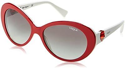 Vogue - Gafas de sol Mod.2792SB para mujer, Rosso/Gray gradient