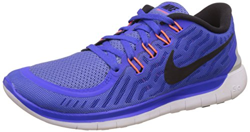 Nike Women's Nike Free 5.0 Racer Blue, Black and White Running Shoes - 4 UK/India (36.5 EU)(4.5 US)  available at amazon for Rs.6406