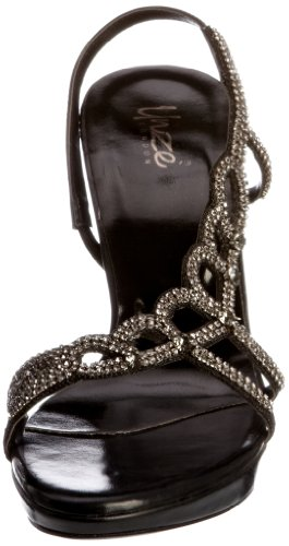 Unze Evening Sandals, Sandali col tacco donna Nero (Schwarz (L18454W))