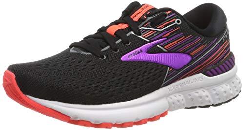 Brooks Damen Adrenaline Gts 19 Laufschuhe, Schwarz (Black/Purple/Coral 080), 39 EU