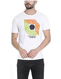 Yukth Men's Half Sleeve Printed Round Neck T-shirt