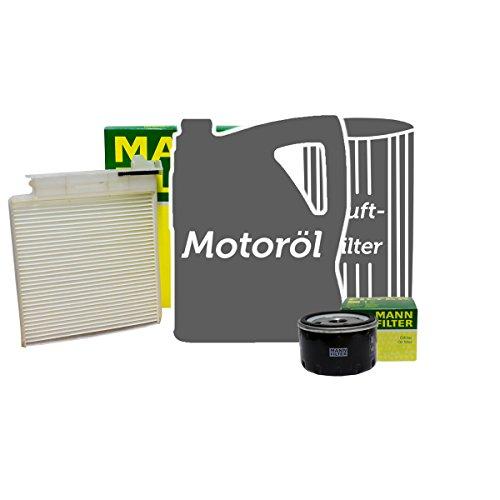 Preisvergleich Produktbild MANN FILTER SET INSPEKTIONSPAKET + 5L MANNOL 5W-40