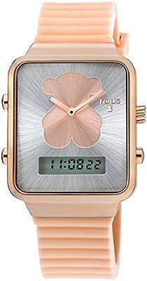 Reloj digital Tous I-Bear 700350140 acero IP rosado correa de silicona
