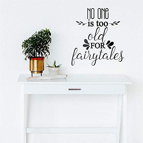 yiyiyaya Lovely Nessuno è Troppo Vecchio per Fiabe Wall Sticker Vinyl Art Home Decor per Bambini Camere Decorazione Vinyl Decals Nero XL 57 Centimetri X 62 Centimetri