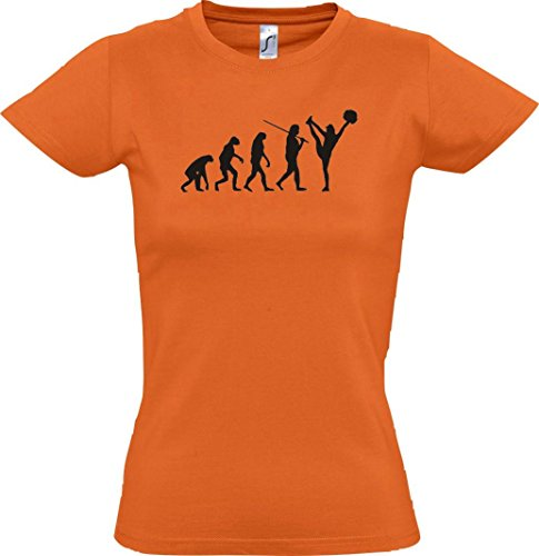 Krokodil Lady T-Shirt Evolution Cheerleader Cheerleading Kostüm Fun Sport Tanz, Farbe Orange, Größe - Evolution Of Dance Kostüm