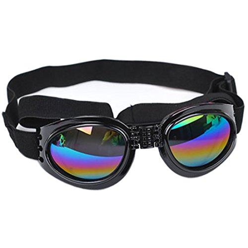 YUHUAWYH Gafas de Sol de Mascotas Perros y Gatos Gafas de Moda del Viento y Resistente al Agua (negro)