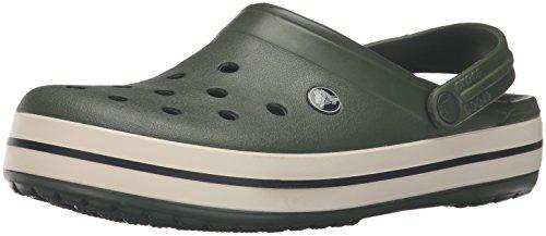 crocs Crocs Crocband Clog, Unisex-Erwachsene Clogs, Grün (Forest/Stucco 34K), 45/46 EU (10 Unisex-Erwachsene UK)