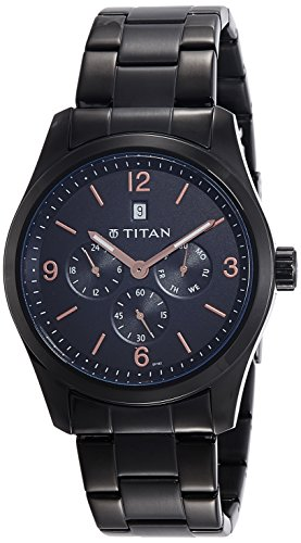 Titan Analog Black Dial Men's Watch-NK9493NM01