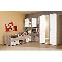 Preisvergleich für Vaja Kinderzimmer Jugendzimmer Komplett mit Schrank Schreibtisch Bett