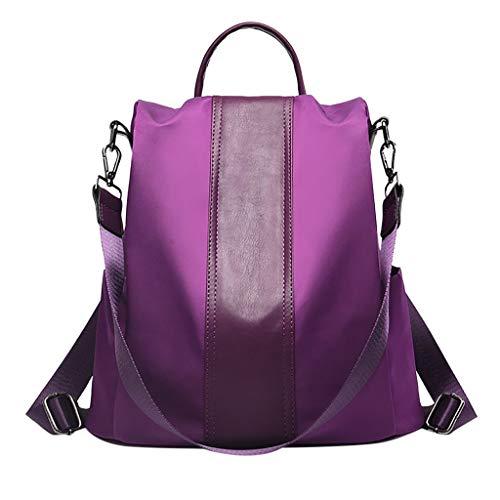 Linkay Neuer HeißEr Verkauf Mode Wild Damen Einfarbiger Rucksack Diebstahlschutztasche Tasche Handtasche Wasserdicht UmhäNgetasche Rucksack