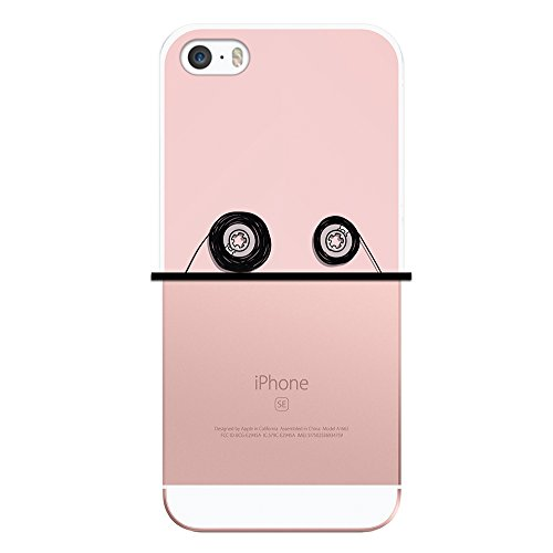 iPhone SE iPhone 5 5S Hülle, WoowCase Handyhülle Silikon für [ iPhone SE iPhone 5 5S ] Indischer Stil mit Elefanten-Muster Handytasche Handy Cover Case Schutzhülle Flexible TPU - Schwarz Housse Gel iPhone SE iPhone 5 5S Transparent D0387