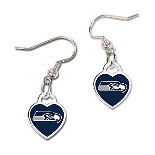 Wincraft Damen 3D Herz Ohrringe - NFL Seattle Seahawks - Seattle Seahawks-schmuck
