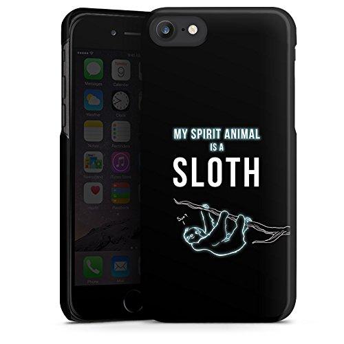 Apple iPhone X Silikon Hülle Case Schutzhülle Faultier Sloth Sprueche Hard Case schwarz