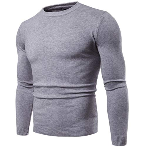 Mens Casual Slim Fit Pullover Sweaters Knitted Long Sleeve Basic Designed as Shown The Picture M