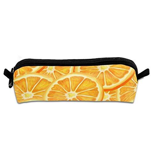 Teen Schreibtisch Orange (Pengyong Stifteetui mit Reißverschluss, klein, für Kinder, Jugendliche und andere Schulbedarf, nahtlos, Orange)