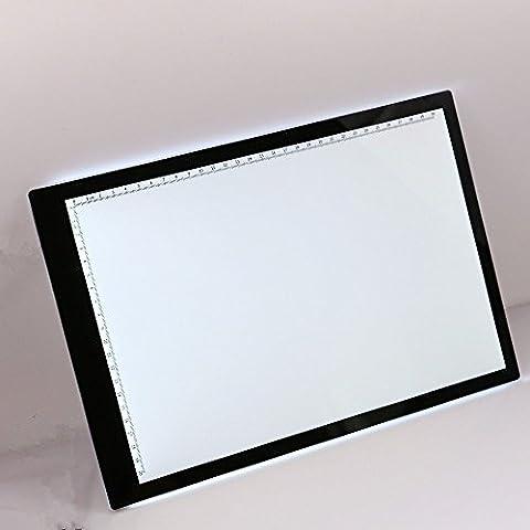 Kglobal Caja de luz LED A4 con ajustable Illuminated- ultrafino Artcraft Tracing Light Pad para los artistas, dibujo, el dibujo, la