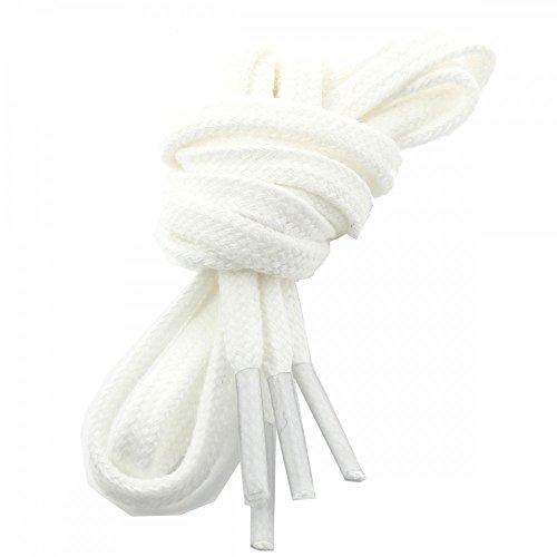 Les lacets Français Lacets Plats Coton Couleur Blanc