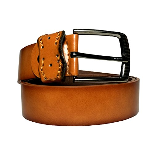 Sky Mart Presents 100% Genuine Leather Brown Matt Look Casual and Formal Belts For Men and Boys | 100% Pure Leather Belt for Men - Formal Leather Gifts for Men