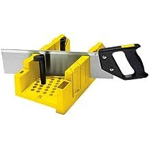 Stanley 1-20-600 - Ingletadora de plástico con sistema de bloqueo y serrucho