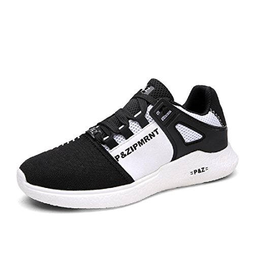 Herren Sportschuhe Mode Atmungsaktiv Freizeit Reiseschuhe Laufschuhe black and white