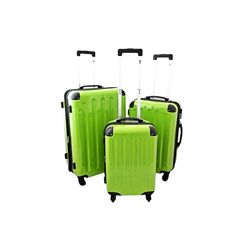 IMEX Hartschalen Koffer Set 3tlg Trolley Gepäck Set (Grün)