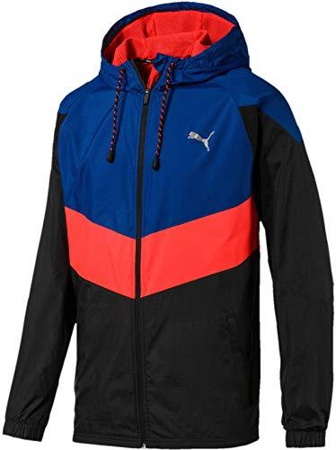 PUMA Herren Reactive WVN Jacket Trainingsjacke, Galaxy Blue Black-NRGY Red, S