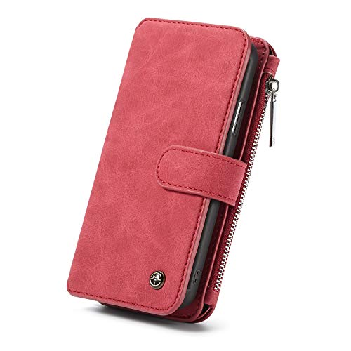(Shuo lan hu wai Großhandels-PU-Leder-Schlag-Fall für iPhone XsMax Abdeckung, Mappen-Beutel-Kasten mit 3 Karten-Schlitzen zurück Fällen für iPhone XsMax (Color : Red))