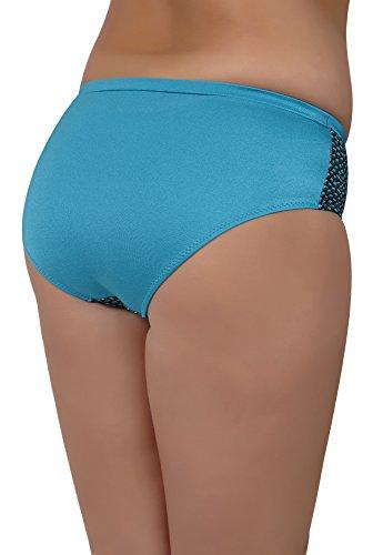 AVA Damen Bikini Slip SF 1 Türkis-SF6