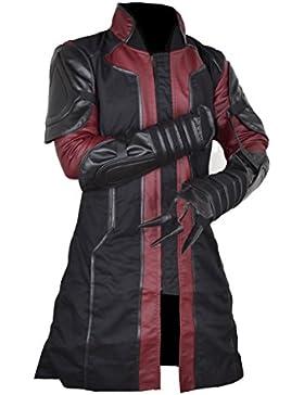 classyak Hombres Ultron de Los Vengadores Hawkeye funda de piel sintética de moda del abrigo