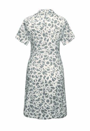 Bellybutton Damen Umstandsmode Kleid 11196, Stehkragen Grau (warm taupe/white printed)