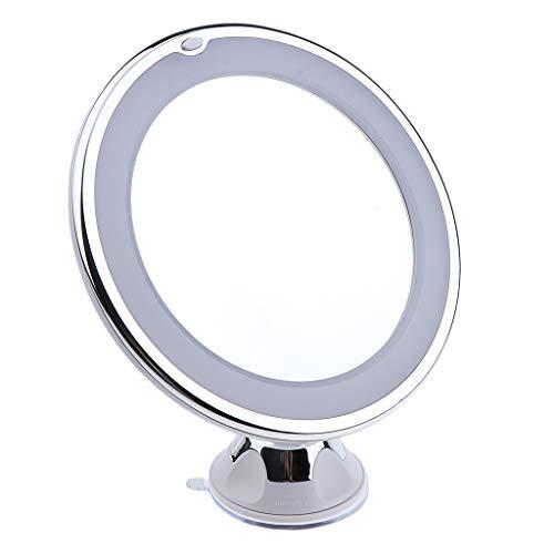 IPOTCH Double Face Miroir de Maquillage Miroir Cosmétique 10X Grossissement pour Table