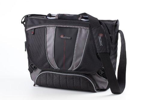 """Kross Precision 16.1"""" Business Laptop-Tasche """"Top Load Endure"""" – Umhängetasche für Laptops / Notebooks / Netbooks – Schwarz, grau"""