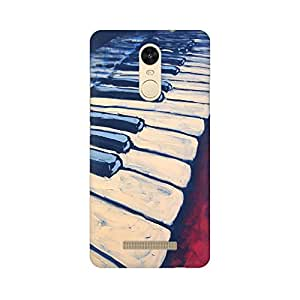 Mobicture Abstract Piano Premium Printed High Quality Polycarbonate Hard Back Case Cover for Xiaomi Redmi Note 3 With Edge to Edge Printing