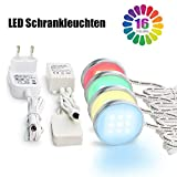 Deckenleuchten Leuchten, Vitrinenbeleuchtung LED Schrankleuchten SMD5050 Unterbauleuchte RGB Beleuchtung, LED Schrankbeleuchtung und 12V Adapter Controller-4pcs, LED Beleuchtung