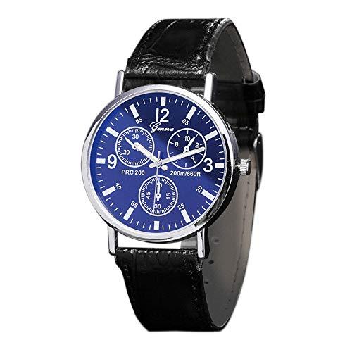 Herren Gürteluhr Quarz Armbanduhr Edelstahl Wasserdicht Geschäft Uhren Blu Ray Glass Watch Neutral Quarz simuliert die Armbanduhr Ultradünn Outdoor Casual Armband