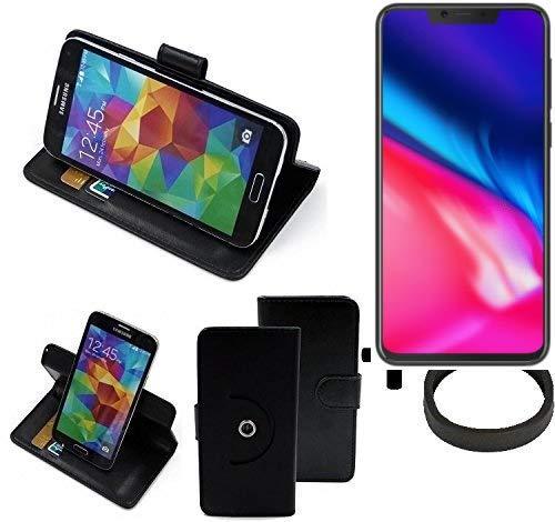 K-S-Trade® Case Schutz Hülle Für -Cubot P201- + Bumper Handyhülle Flipcase Smartphone Cover Handy Schutz Tasche Walletcase Schwarz (1x)