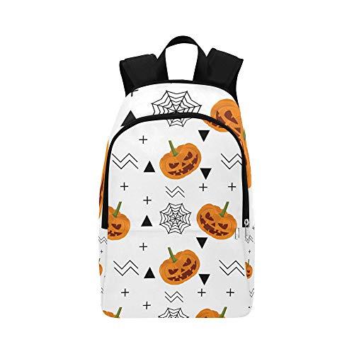 Spinnennetz und Halloween Urlaub lässig Daypack Reisetasche College School Rucksack für Männer und Frauen