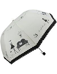 Paraguas plegable para mujer, resistente al viento, sólido, irrompible, clásico, para viajes, cortavientos, compacto, creativo, de tejido azul/rosa/púrpura/amarillo claro/negro, 190T amarillo claro