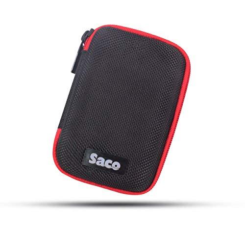 Saco Shock Proof Pocket Organizer Eva External Hard Disk Case Pouch for Samsung T5 Portable SSD - 500GB - USB 3.1 External SSD (MU-PA500B/AM)