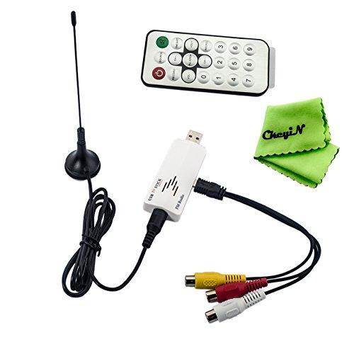 Ckeyin® HD PRO - Sintonizador de televisión analógico USB (Sintonizador de Televisión analógico en Alta Definición para Ordenadores de Sobremesa y Portátiles - Grabador PVR - Compatible con Windows 8.1 / 8 / 7 / Vista / XP / etc)
