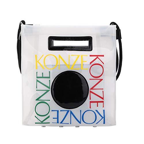 Mitlfuny handbemalte Ledertasche, Schultertasche, Geschenk, Handgefertigte Tasche,Damenmode Transparent Crossbody Umhängetaschen Geldbörse (Trachten Von Mexiko)