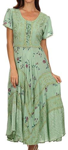 Sakkas Calliope Robe Style Corsage Vert