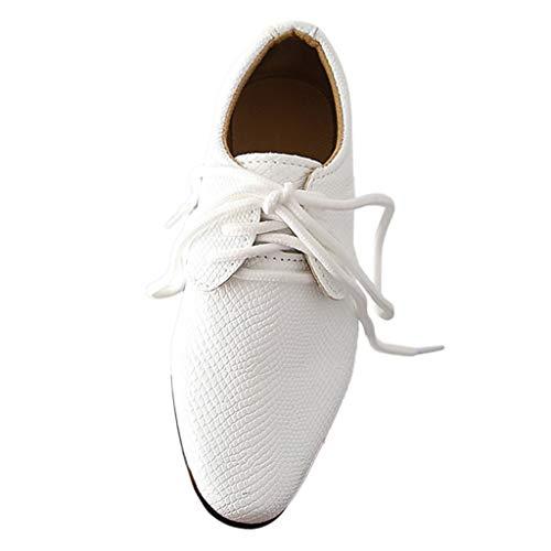 Pingtr - Lederschuhe Junge - Junge Schuhe Schnürhalbschuhe Elegant Oxford Anzug Leder Derby Männer Lackleder Lederschuhe - Sweat Anzüge Jungen