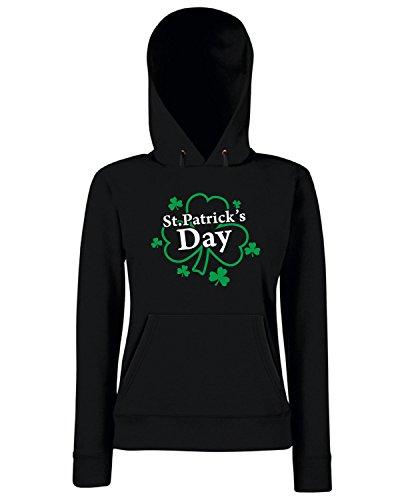 T-Shirtshock - Sweats a capuche Femme T0456 san patrizio festivita Noir