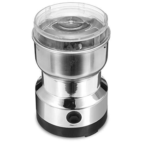 ZIHENGUO Elektrische Kaffeemühle, Haushaltskaffeemühle Und Reinigungsbürste, Lärmarmes Design 150W Edelstahlklinge, Kein BPA