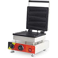 220V enchufe UE Comercial Gofrera especial Pino Forma WAFFEL Horno eléctrico Pancake Desayuno Scone Snack