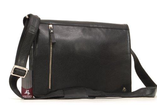Visconti - Sac bandoulière pour iPad A4 - ML23 - Cuir de Buffalo Noir