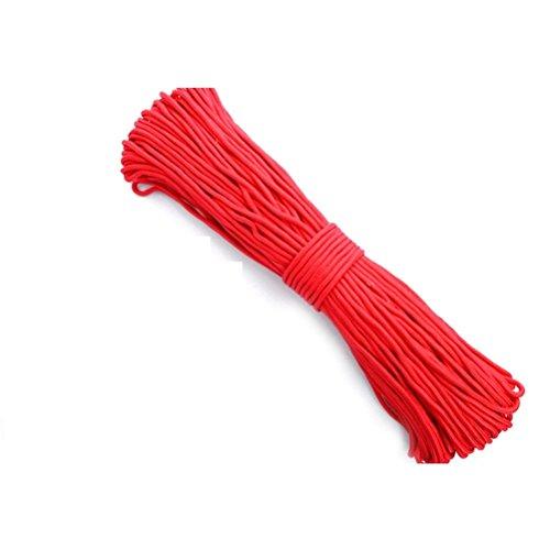 rosenice Nylon geflochtenen Seil Twisted Schnur 4mm für Parachute Camping Outdoor Living 100m (rot) -