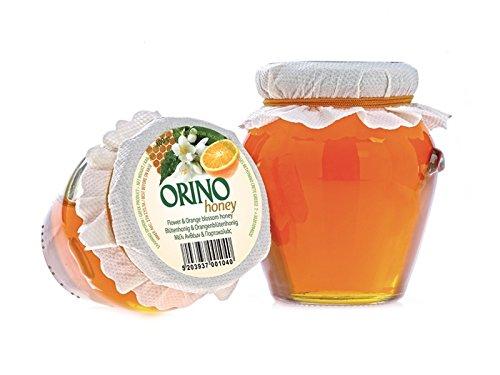 Orangen Blüten HONIG 400g Glas Creta Mel Orino von der Insel Kreta in Griechenland - fruchtig herber Honig von Orangenblüten Orangenhonig Bienenhonig - jährlich begrenzte Stückzahl (Orange Elektronik)